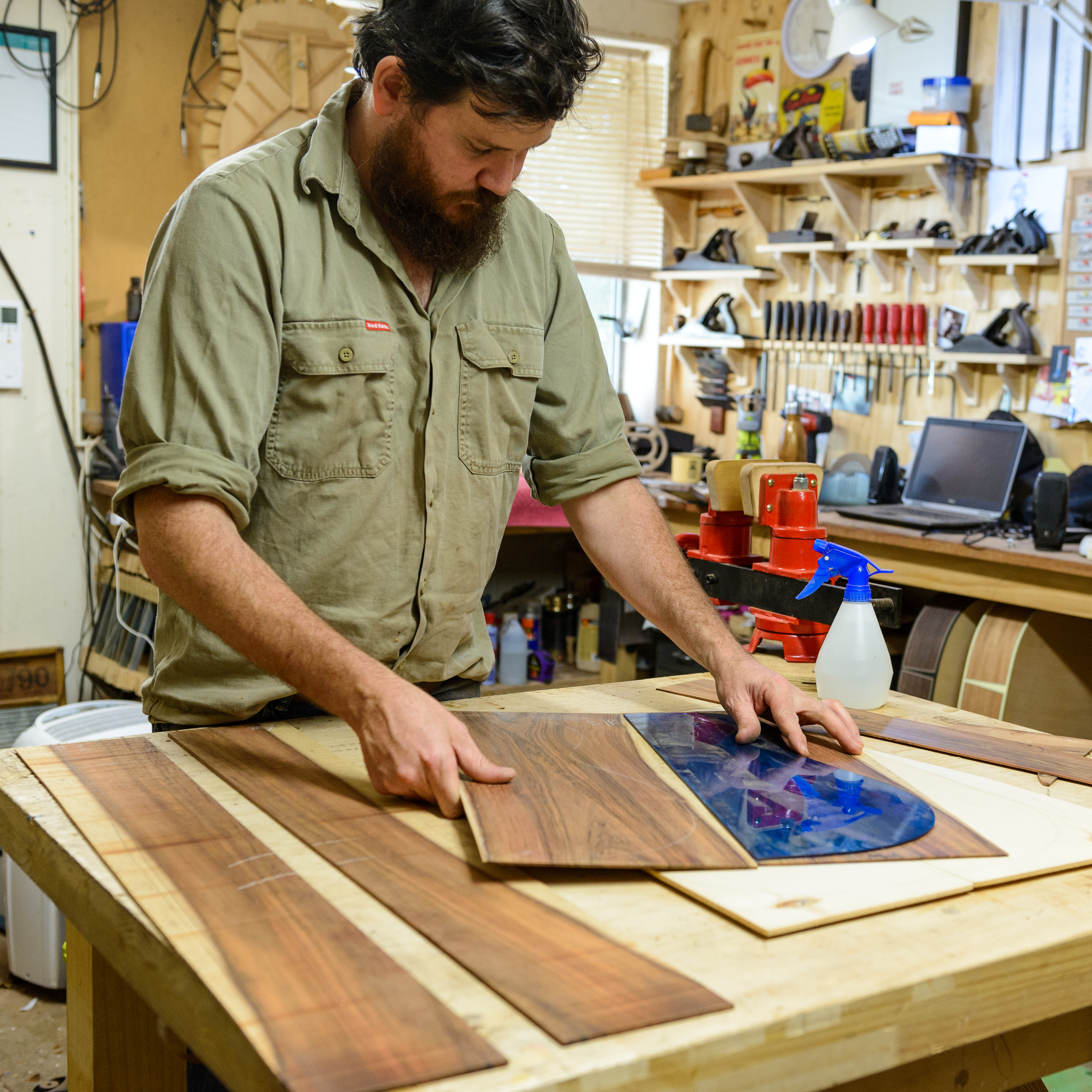 Luthier Luke Kallquist and the immaculate work of guitar makers