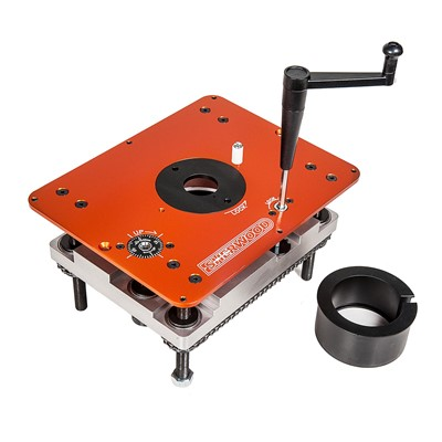 Router Table Lift & Mounting Plate - Round Body Routers