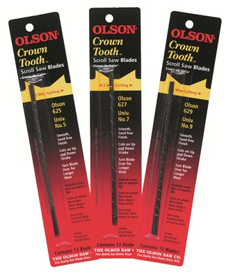 Olson Crown Tooth Scroll Saw Blades