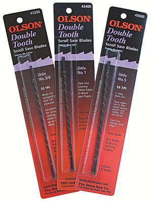 Olson Double Tooth Scroll Saw Blades