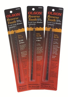 Olson Reverse Skip Scroll Saw Blades