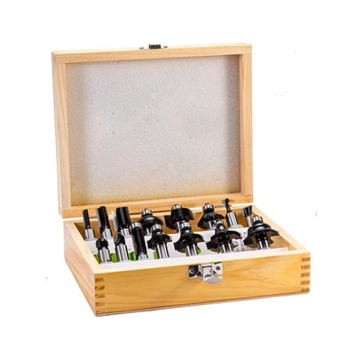 Torquata 15-Piece Router Bit Set