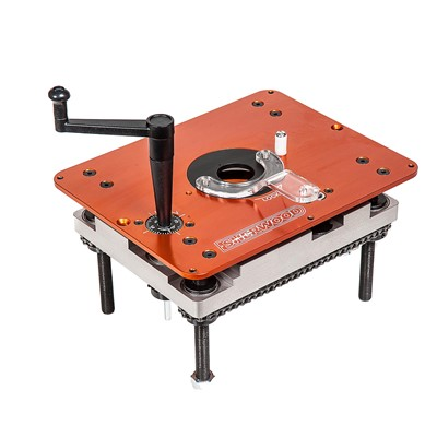 Sherwood Router Table Lift & Mounting Plate - Plunge Base Routers