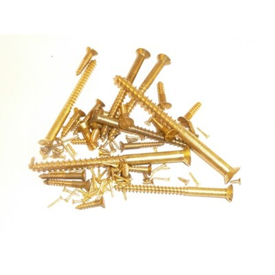Solid Brass Screws - Countersunk