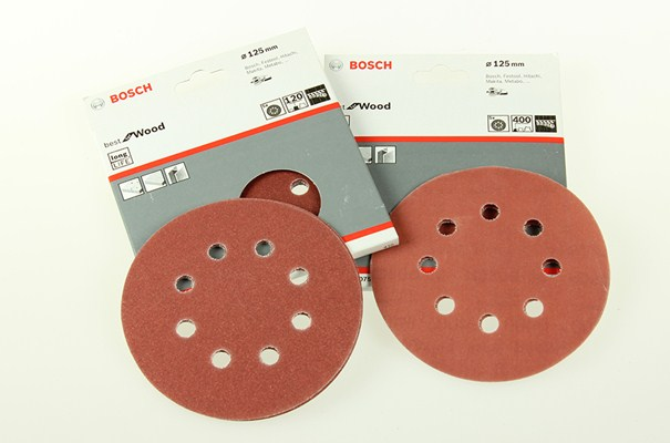 Punched 125mm Hook & Loop Abrasive Discs