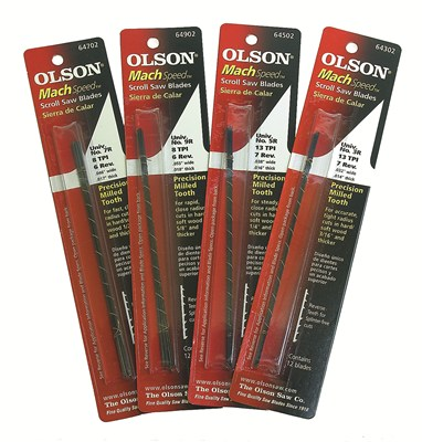 Olson Mach Speed Scroll Saw Blades