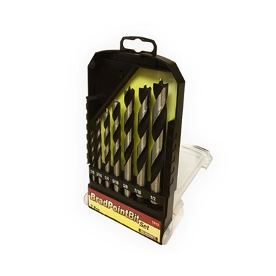 7 Piece Brad Point Drill Bit Set