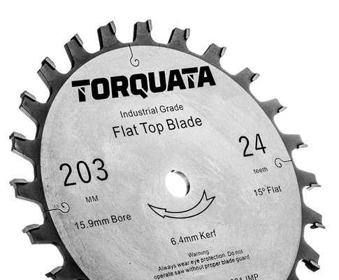 Torquata Flat-Top Dado Saw Blades