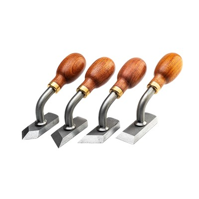Cranked Paring Chisel Set of 4