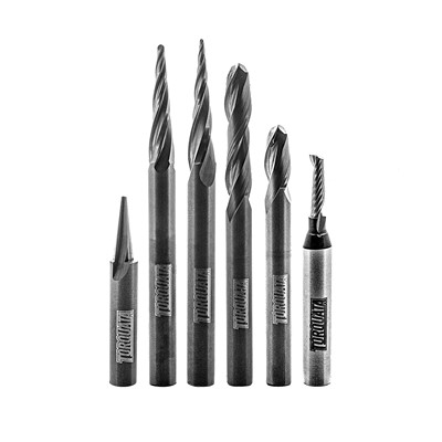 1/4in Shank Spiral CNC Bit Kit