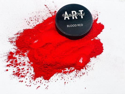 Health of Mind Art Pearlescent Pigment Powder - Blood Red