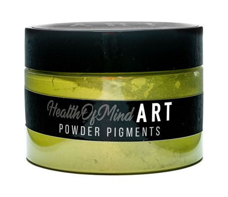 Health of Mind Art Pearlescent Pigment Powder - Cooch Green