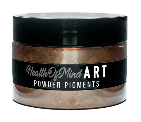 Health of Mind Art Pearlescent Pigment Powder - Copper Brown