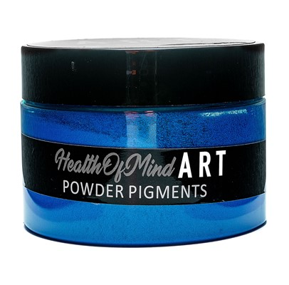 Health of Mind Art Pearlescent Pigment Powder - Electric Blue