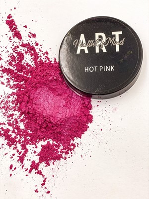Health of Mind Art Pearlescent Pigment Powder - Hot Pink