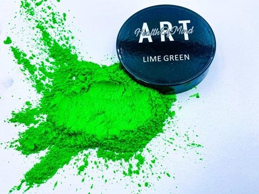 Health of Mind Art Pearlescent Pigment Powder - Lime Green