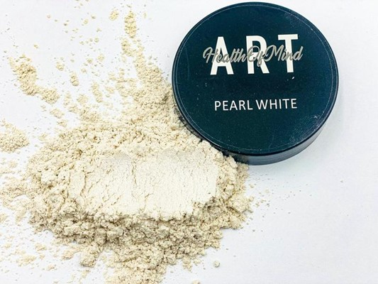 Health of Mind Art Pearlescent Pigment Powder - Pearl White