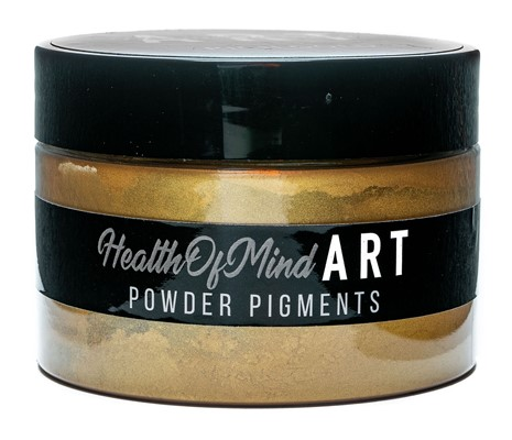 Health of Mind Art Pearlescent Pigment Powder - Rich Gold