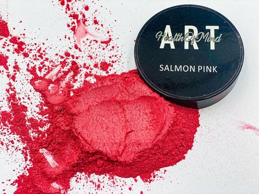 Health of Mind Art Pearlescent Pigment Powder - Salmon Pink