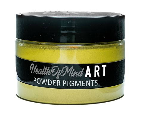 Health of Mind Art Pearlescent Pigment Powder - Sunflower Yellow
