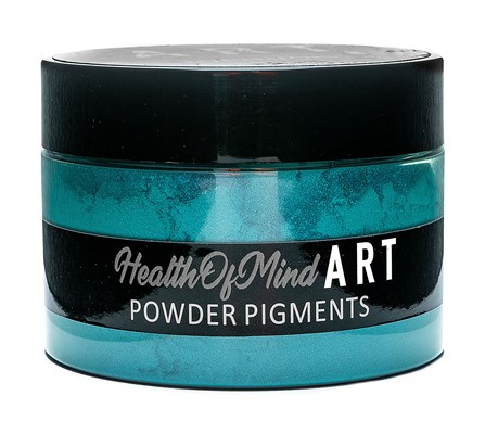 Health of Mind Art Pearlescent Pigment Powder - Turquoise Green