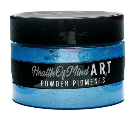 Health of Mind Art Pearlescent Pigment Powder - Whitsundays Blue